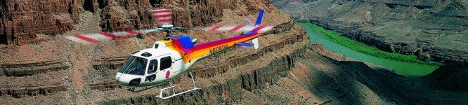 Flight over Grand Canyon by helicopter